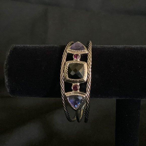 Lia Sophia silver cuff bracelet